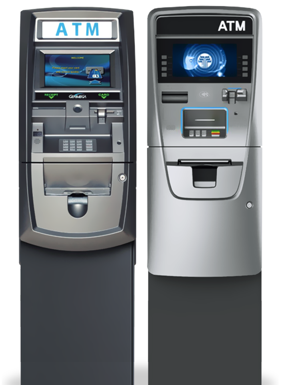 ATM services for merchants of all types with Genmega and Hysoung terminals.