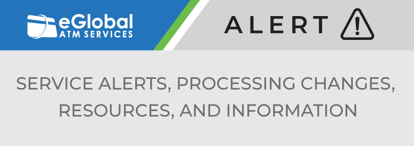 eGlobal Alert - processing notices, resources